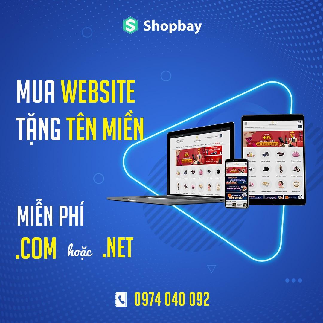 Mua website tặng tên miền .com hoặc .net
