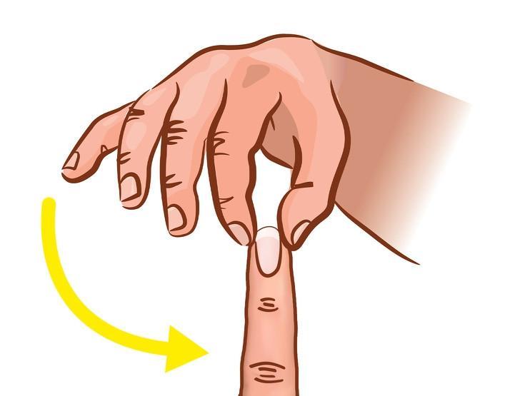 Bóp chặt đầu ngón tay