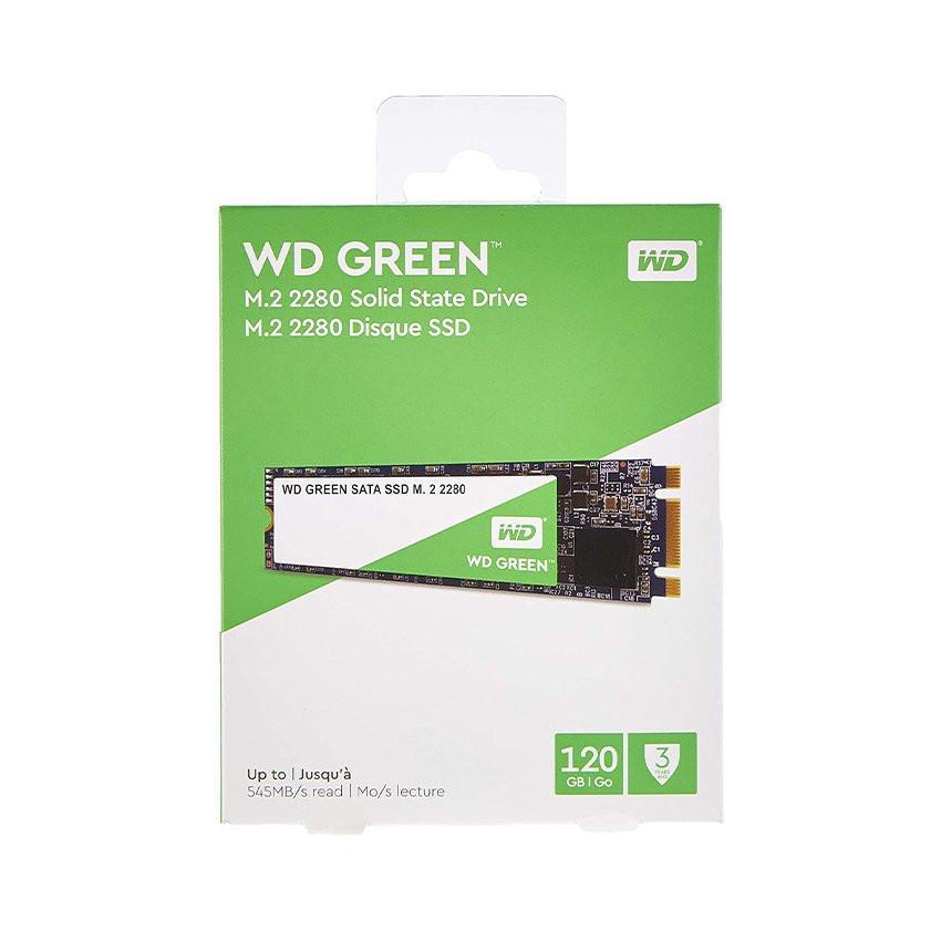 Ổ cứng SSD WD Green 120GB M.2 2280 (Đọc 545MB/s - Ghi 430MB/s) - (WDS120G2G0B)