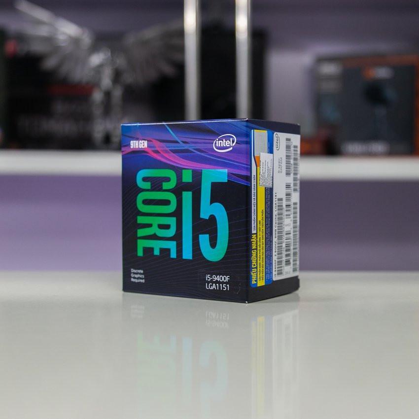 CPU Intel Core i5-9400F (2.9GHz turbo up to 4.1GHz, 6 nhân 6 luồng, 9MB Cache, 65W) - Socket Intel LGA 1151-v2
