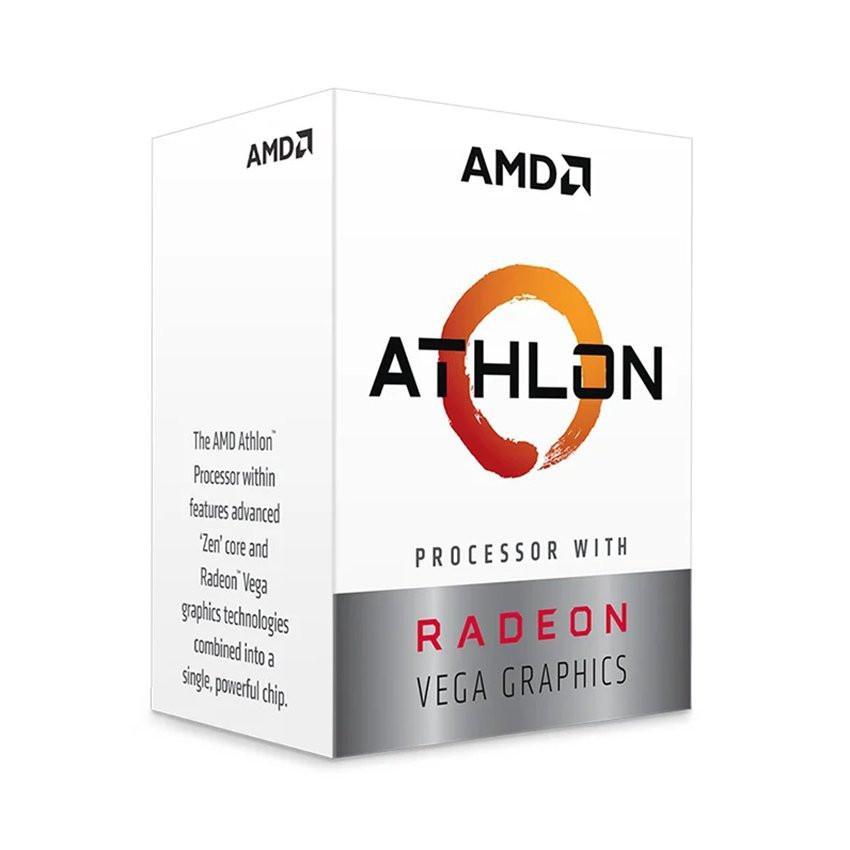 CPU AMD Athlon 3000G (3.5GHz, 2 nhân 4 luồng , 5MB Cache, 35W) - Socket AMD AM4