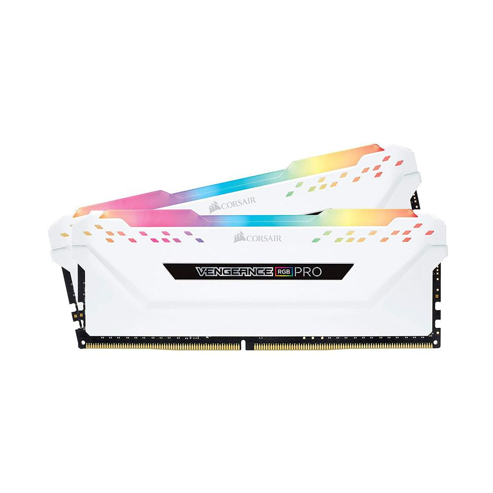 Ram Desktop Corsair Vengeance PRO RGB White (CMW16GX4M2E3200C16W) 16GB (2x8GB) DDR4 3200MHz
