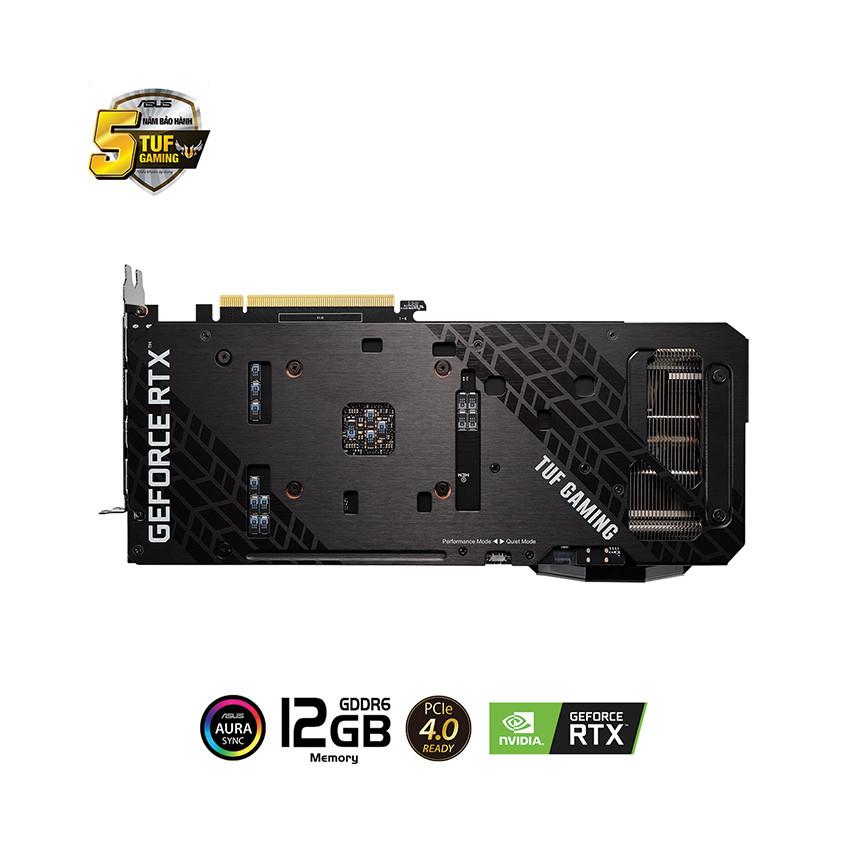 Card màn hình Asus TUF RTX 3060-12G-GAMING (12GB GDDR6, 192-bit, HDMI +DP, 1x8-pin)