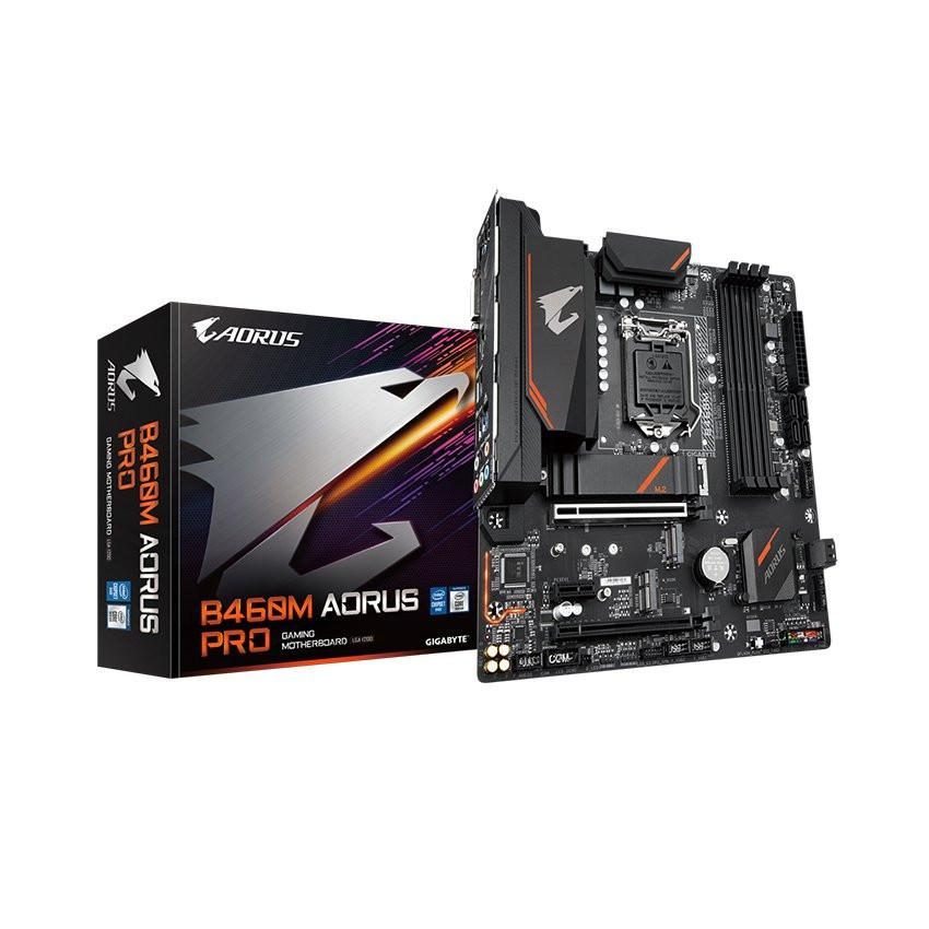 Mainboard Gigabyte B460M AORUS PRO (Intel B460, Socket 1200, m-ATX, 4 khe RAM DDR4)