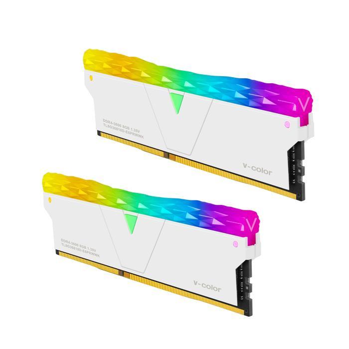 Ram V-Color DDR4 Prism Pro RBG 16GB (2X8GB) 3600MHz - White