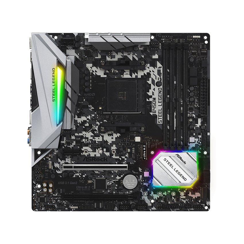 Mainboard ASROCK B450M STEEL LEGEND (AMD B450, Socket AM4, m-ATX, 4 khe RAM DDR4)