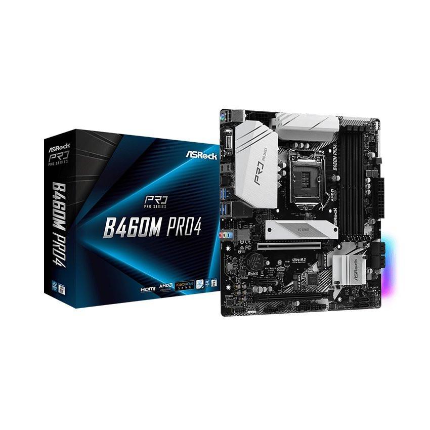 Mainboard ASROCK B460M PRO4 (Intel B460, Socket 1200, m-ATX, 4 khe Ram DDR4)