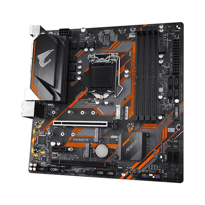 Mainboard GIGABYTE B365M AORUS ELITE (Intel B365, Socket 1151, m-ATX, 4 khe RAM DDR4)