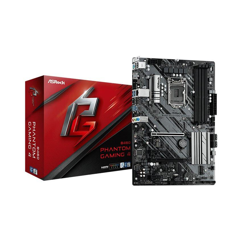 Mainboard ASROCK B460 PHANTOM GAMING 4 (Intel B460, Socket 1200, ATX, 4 khe Ram DDR4)