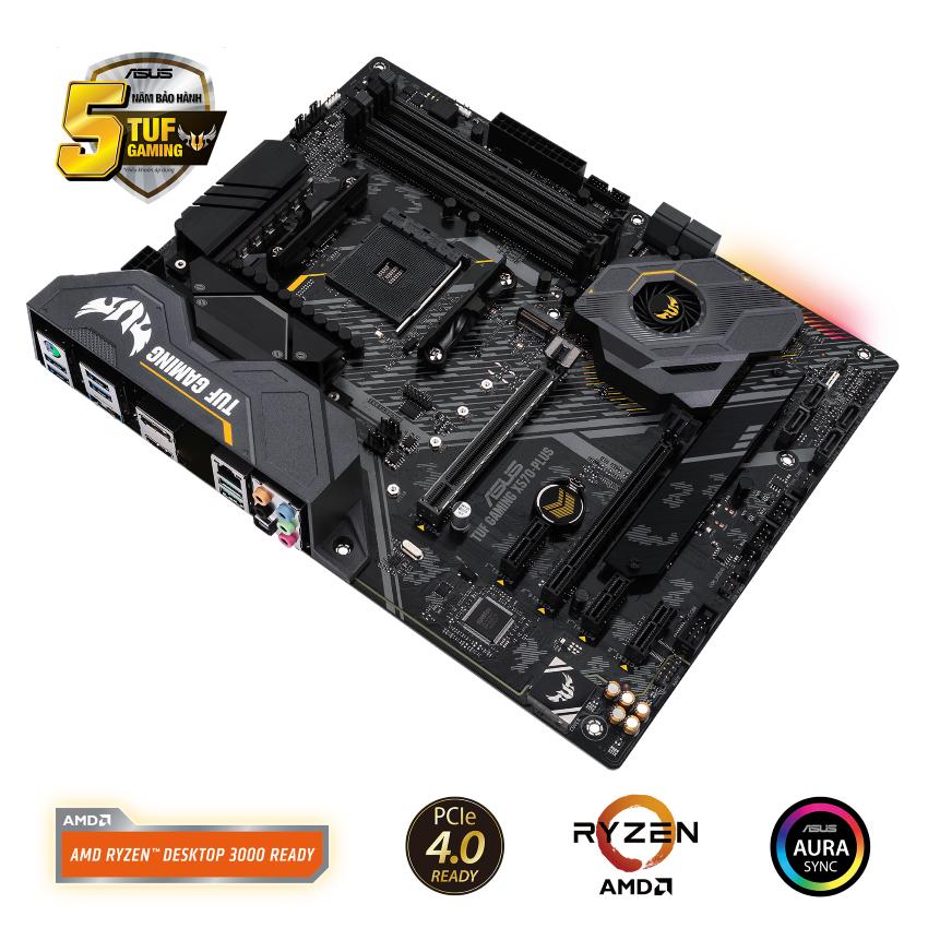 Mainboard ASUS TUF GAMING X570-PLUS (AMD X570, Socket AM4, ATX, 4 khe RAM DDR4)