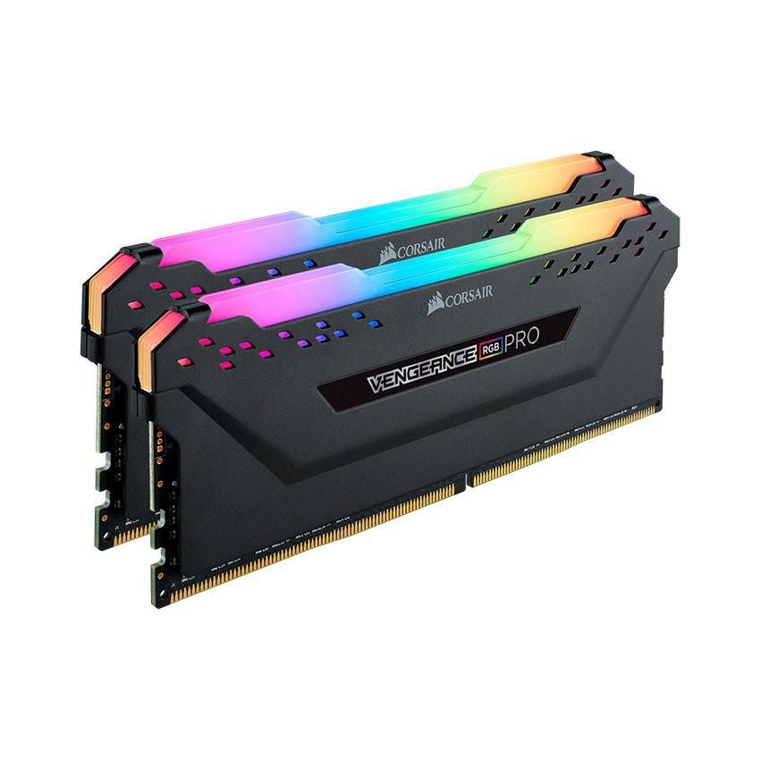 Ram Desktop Corsair Vengeance PRO RGB (CMW32GX4M2E3200C16) 32GB (2x16GB) DDR4 3200MHz