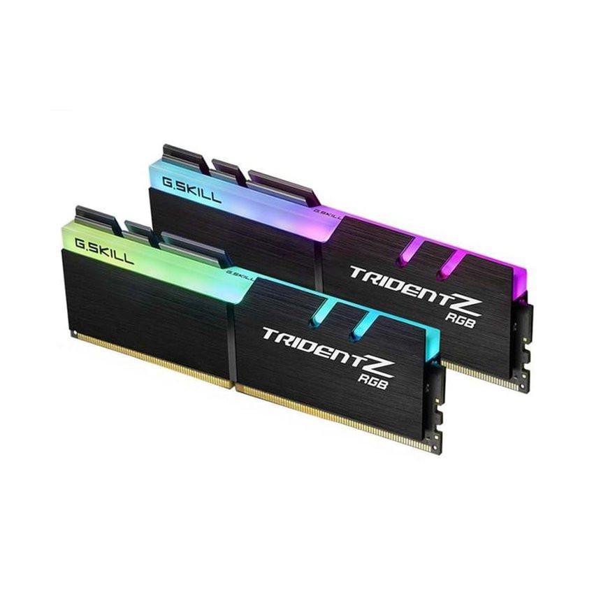 RAM Desktop Gskill Trident Z RGB (F4-3000C16D-32GTZR) 32GB (2x16GB) DDR4 3000MHz