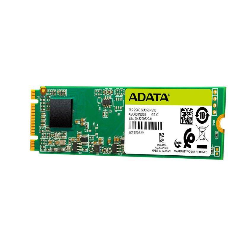 Ổ cứng SSD Adata SU650SN38 120G M.2 2280 (Đọc 550MB/s - Ghi 510MB/s) - (AU650NS38-120GT-C)