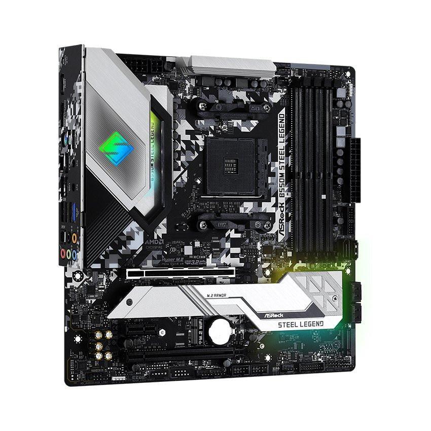 Mainboard ASROCK B550M STEEL LEGEND (AMD B550, Socket AM4, m-ATX, 4 khe RAM DDR4)