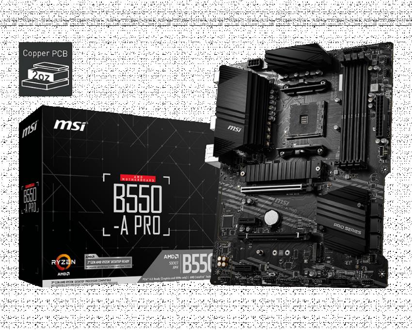 Mainboard MSI B550-A PRO (AMD B550, Socket AM4, ATX, 4 khe RAM DRR4)