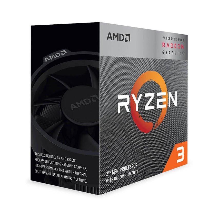 CPU AMD Ryzen 3 3200G (3.6GHz turbo up to 4.0GHz, 4 nhân 4 luồng, 4MB Cache, Radeon Vega 8, 65W) - Socket AMD AM4