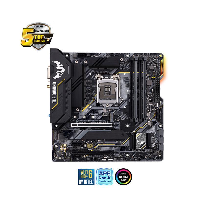 Mainboard ASUS TUF GAMING B460M-PLUS (WIFI) (Intel B460, Socket 1200, m-ATX, 4 khe Ram DDR4)