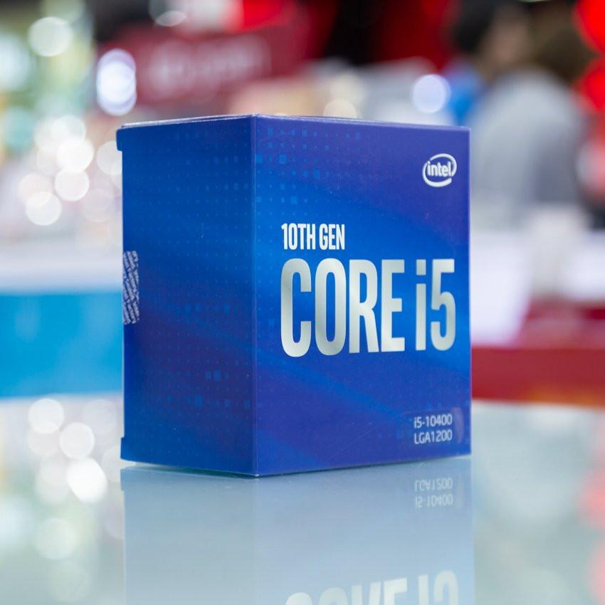 CPU Intel Core i5-10400 (2.9GHz turbo up to 4.3GHz, 6 nhân 12 luồng, 12MB Cache, 65W) - Socket Intel LGA 1200