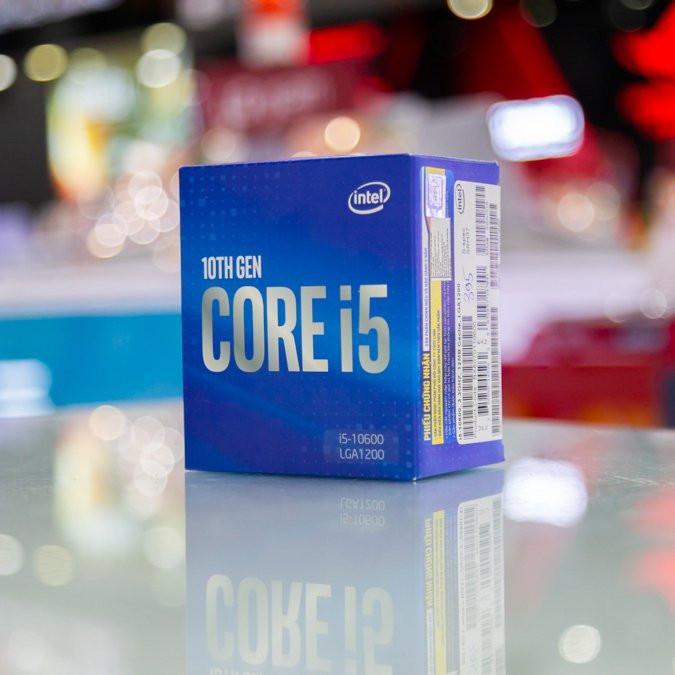 CPU Intel Core i5-10600 (3.3GHz turbo up to 4.8GHz, 6 nhân 12 luồng, 12MB Cache, 65W) - Socket Intel LGA 1200