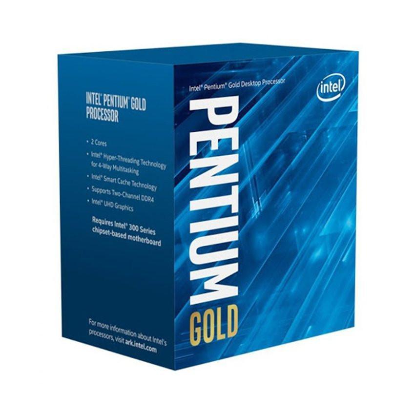 CPU Intel Pentium Gold G6400 (4.0GHz, 2 nhân 4 luồng, 4MB Cache, 58W) - Socket Intel LGA 1200)