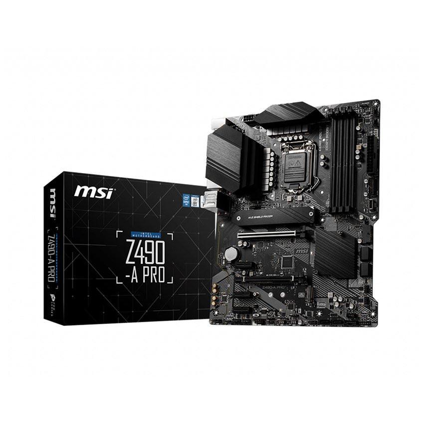 Mainboard MSI Z490-A PRO (Intel Z490, Socket 1200, ATX, 4 khe RAM DDR4)
