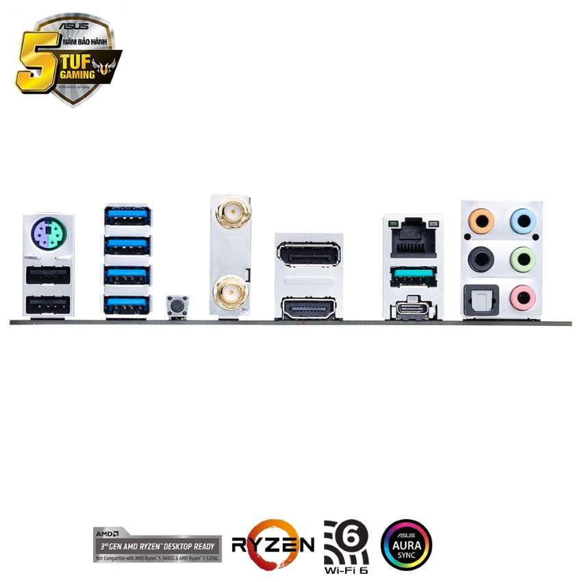 Mainboard ASUS TUF GAMING B550M-PLUS (WI-FI) (AMD B550, Socket AM4, m-ATX, 4 khe RAM DRR4)