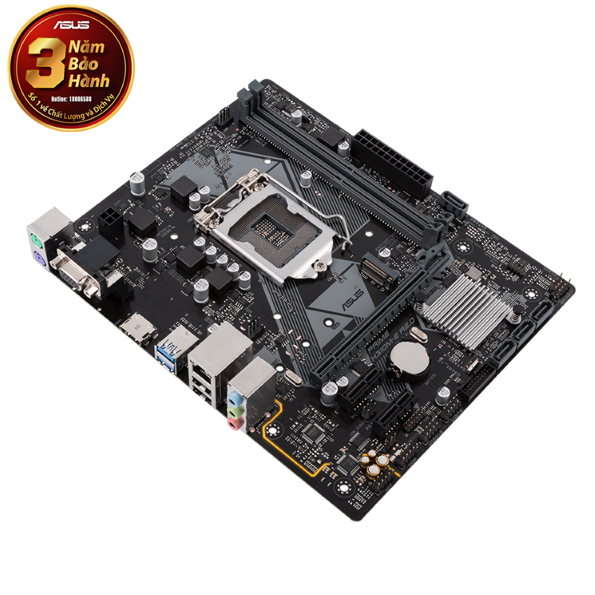 Mainboard ASUS PRIME H310M-E R2.0 (Intel H310, Socket 1151, m-ATX, 2 khe RAM DDR4)