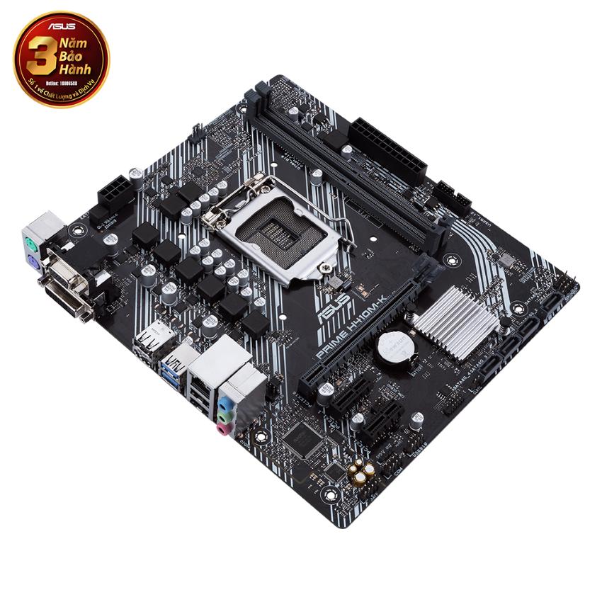 Mainboard ASUS PRIME H410M-K (Intel H410, Socket 1200, m-ATX, 2 khe Ram DDR4)