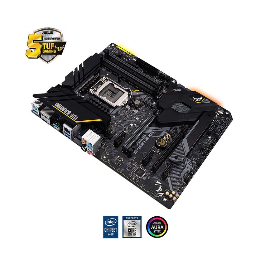 Mainboard ASUS TUF GAMING Z490-PLUS (Intel Z490, Socket 1200, ATX, 4 khe RAM DDR4)