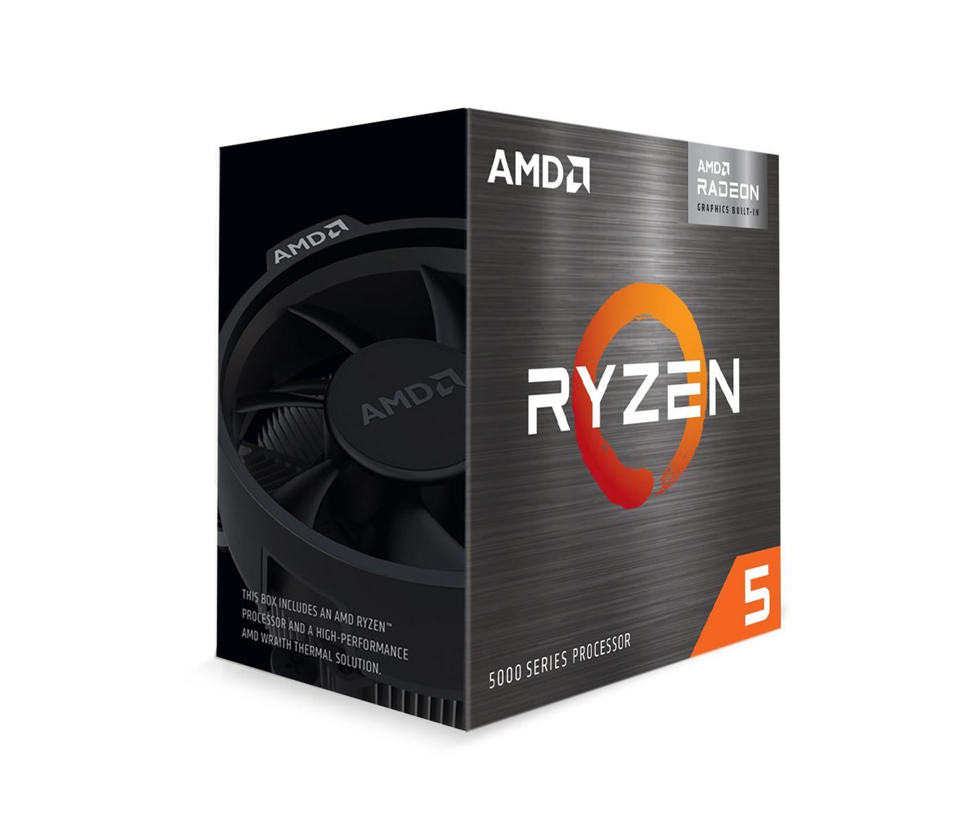 CPU AMD Ryzen 5 5600G (3.9GHz boost 4.4GHz, 6 nhân 12 luồng, 19MB Cache, 65W, Socket AM4)