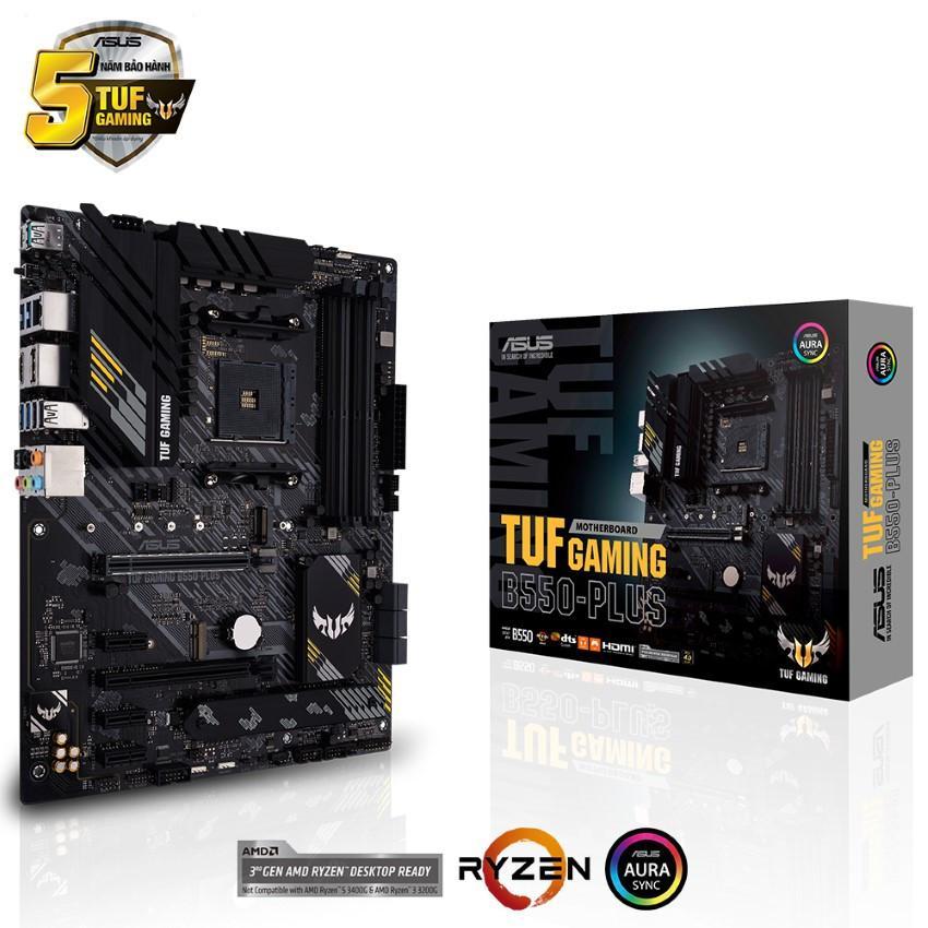 Mainboard ASUS TUF GAMING B550-PLUS (AMD B550, Socket AM4, ATX, 4 khe RAM DRR4)