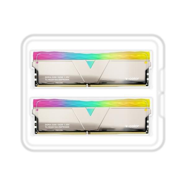 Ram VCOLOR DDR4 16GB 3200MHz Prism Pro RGB U-DIMM 1.35V(Silver H/S)