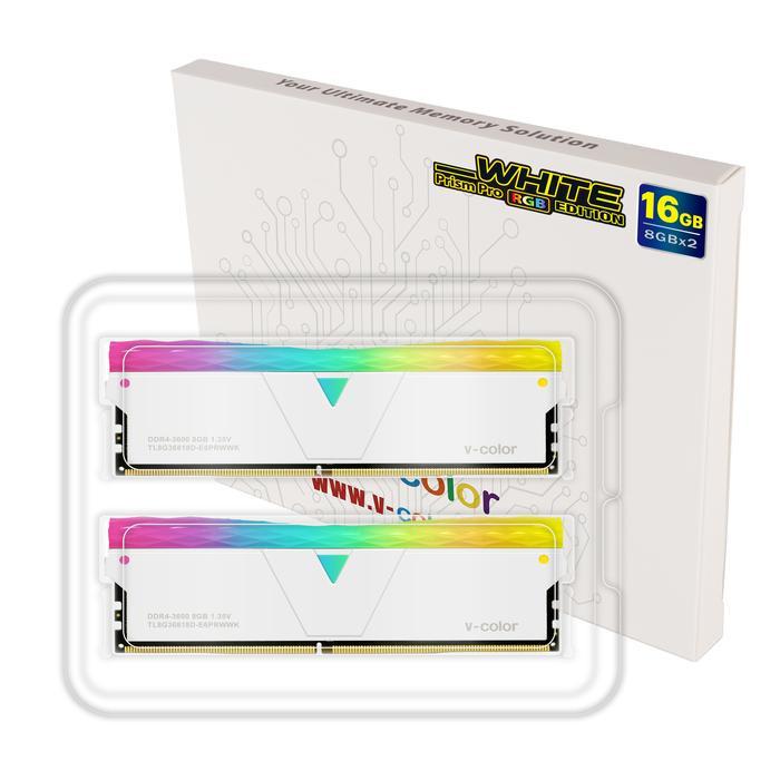 Ram V-Color DDR4 Prism Pro RBG 8GB (1X8GB) 3200MHz - White