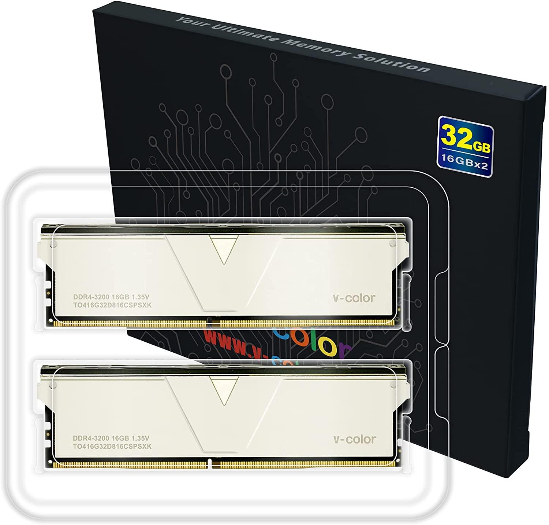 Ram VCOLOR DDR4 16GB 3200MHz, Skywalker Plus U-DIMM 1.35V XMP (Silver H/S)