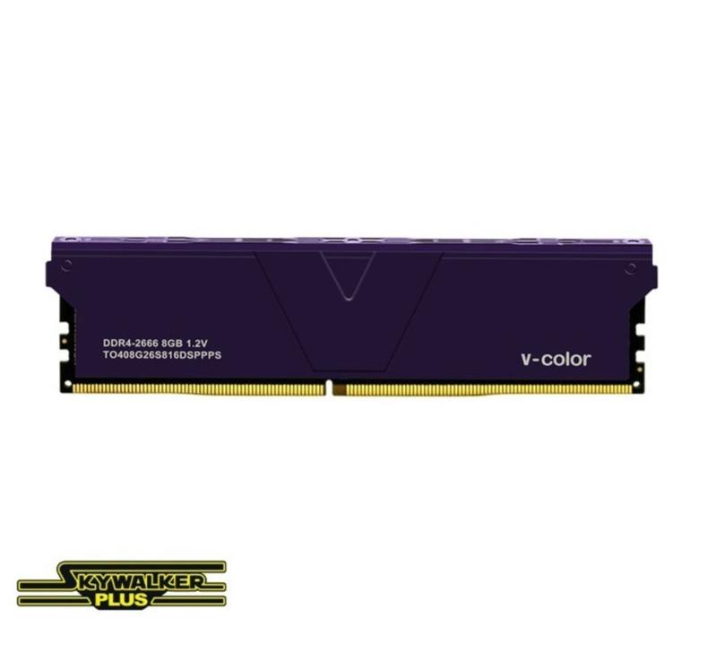 Ram V-Color DDR4 Skywalker Plus 8GB (1X8GB) 3200MHz – Purple Heatsink