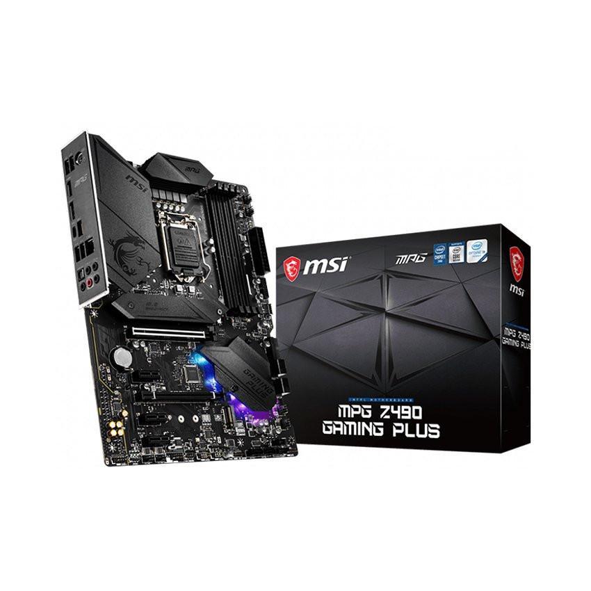 Mainboard MSI MPG Z490 GAMING PLUS (Intel Z490, Socket 1200, ATX, 4 khe RAM DDR4)