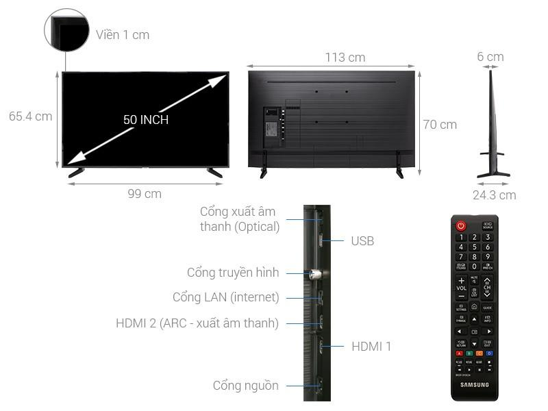 Smart Tivi Samsung 50 inch 50NU7090, 4K UHD, HDR