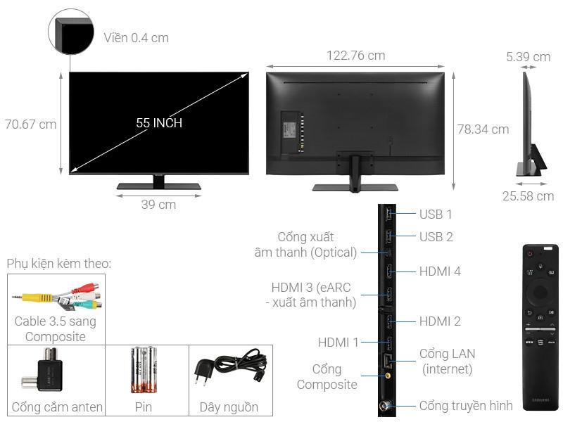 QLED Tivi 4K Samsung 55Q80T 55 inch Smart TV