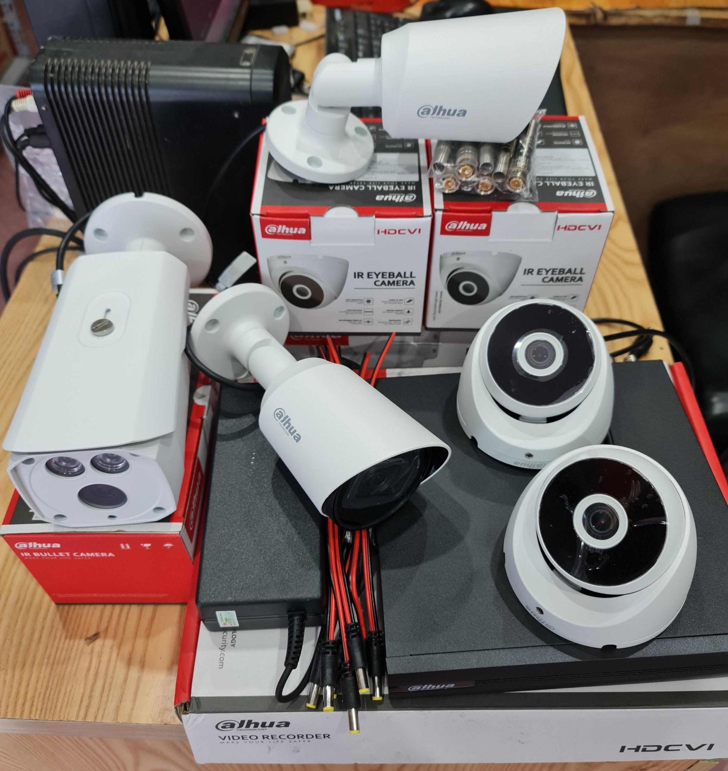 Lắp đặt trọn bộ 6 camera 1080P