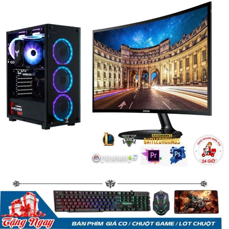 Bộ PC Gaming B360/ i5 9400F/RAM 8GB/ RX 1050-2G/Màn Hình 24inch Cong Full Viền