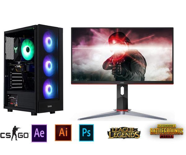 Bộ PC Gaming H310/ i3 9100F/RAM 8GB/ GTX 1060-3G/Màn Hình 24inch Full Viền