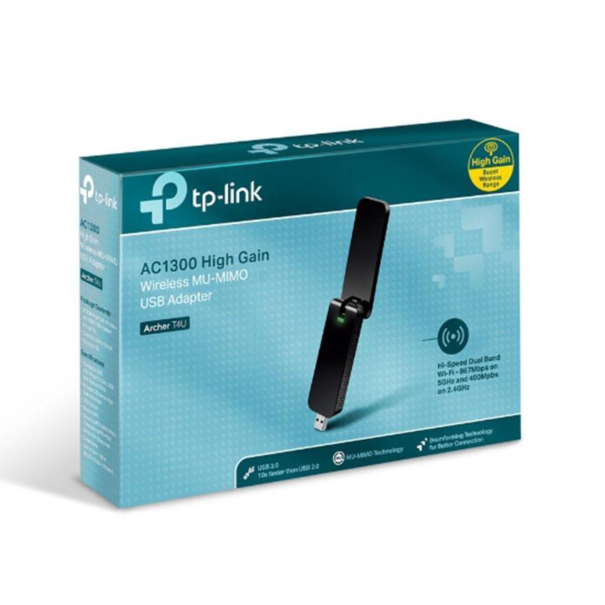Card mạng không dây USB TP-Link Archer T4U AC1300 Dual Band Wireless