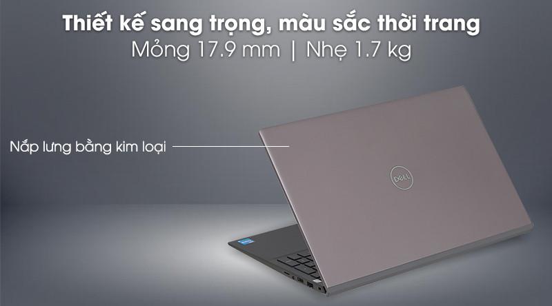 """Laptop Dell Vostro 5502 70231340 (I5 1135G7 / 8Gb/SSD 256Gb/ 15.6"""" FHD/VGA on/ Win10/ Gray/vỏ nhôm )"""