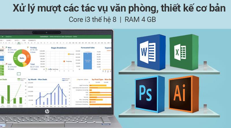 Laptop HP Pavilion 14 ce2035tu i3 8145U/4GB/256GB/Win10 (6YZ18PA