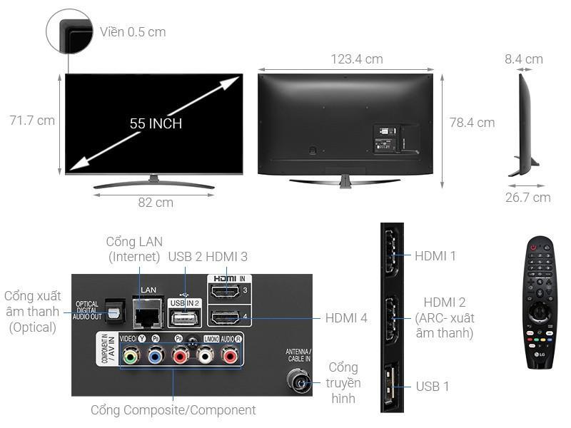 Smart Tivi LG LED 55 inch 55UM7600PTA 4K UHD HDR