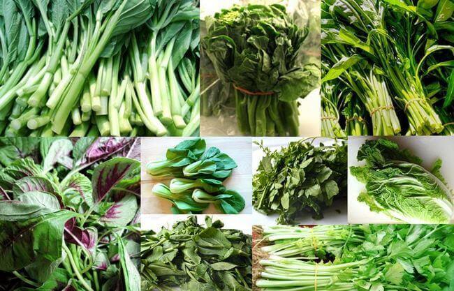 Rau củ sẫm màu như rau cải, rau muống... giúp hạn chế hình thành melanin khi làn da tiếp xúc với tia UV