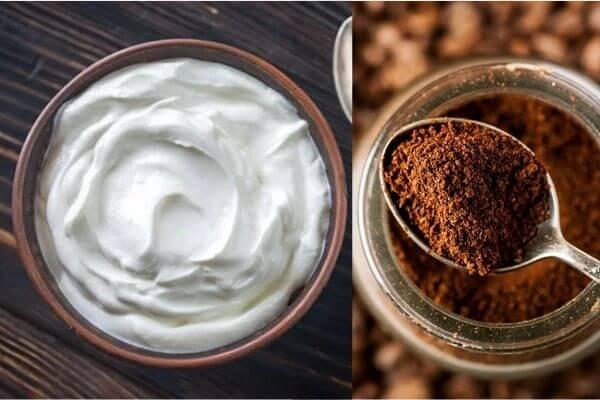 Mặt nạ từ bã cà phê và sữa chua vừa có công dụng trị mụn, vừa có thể làm trắng da