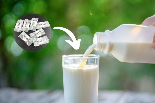 Đắp mặt nạ sữa tươi không đường giúp da mặt bạn trở nên sáng đẹp hơn