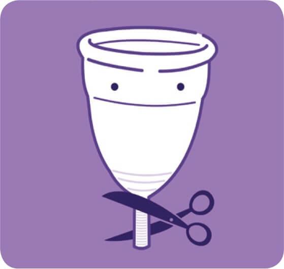 Bạn có thể cắt ngắn đuôi của cốc nguyệt san nếu chúng làm bạn cảm thấy khó chịu