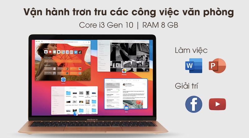 MacBook Air 2020 i3 | CPU Intel Core i3 thế hệ 10